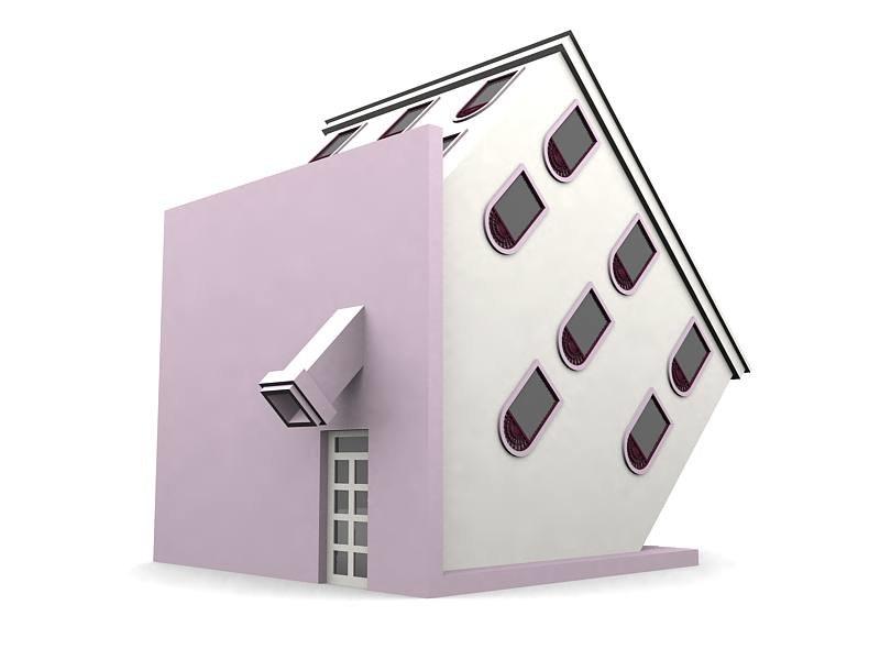 3d model 135 degree house
