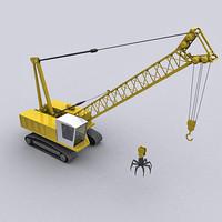 3d crane claw model