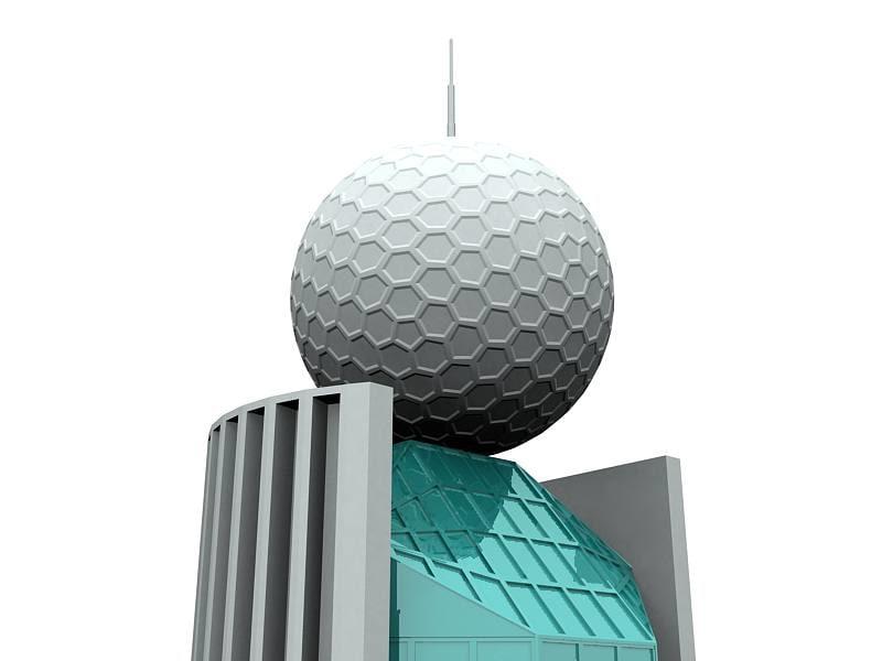 etisalat building dubai 3ds