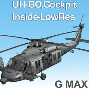 blackhawk cockpit 3d model