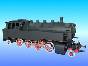 3d old steam locomotive br-86 model