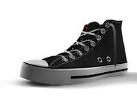 3d chuck converse sneaker model