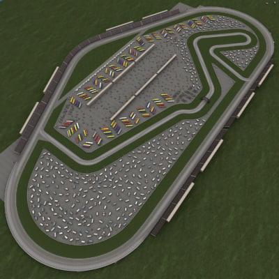 2 25 speedway road 3d model