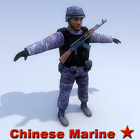 chinese marine 3d model