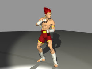 3d model thai boxer