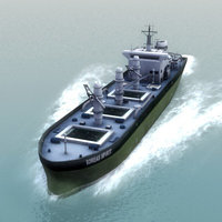 3d cargo transport ship model