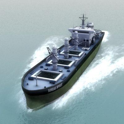3d cargo transport ship model