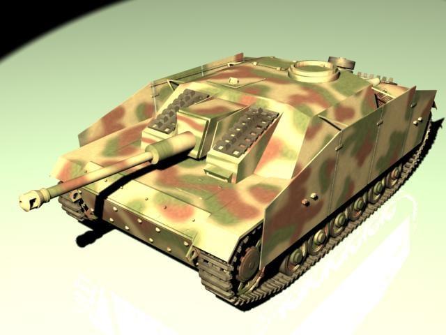3d model sturmgeschutz iv