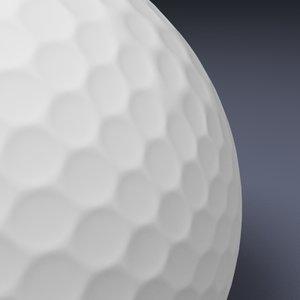 free max model golfball true geometry golf course