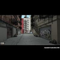 3d alley street model
