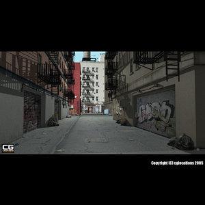 facade building street 3ds