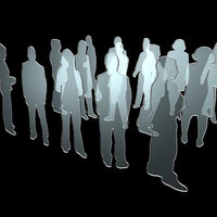 random transparent people architectural 3d model