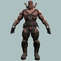sci fi warrior 3d model