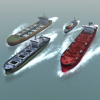 3d 3ds oil tanker cargo ship