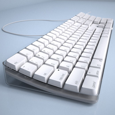 apple keyboard 3d model