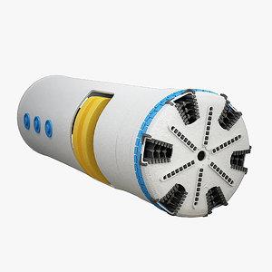 tunnel boring machine 3d model