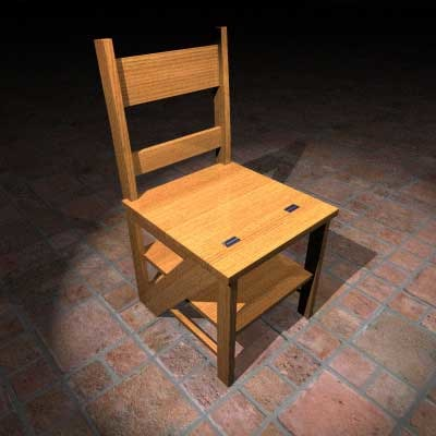 chair ladder 3d model