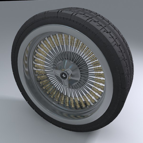 3ds max muscle car wheel tire