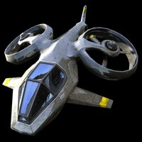 3d science fiction helicopter model
