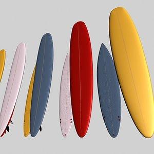 3d model surf boards