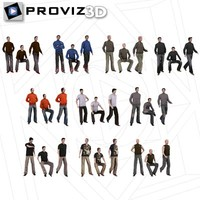 3d 30 people casual men
