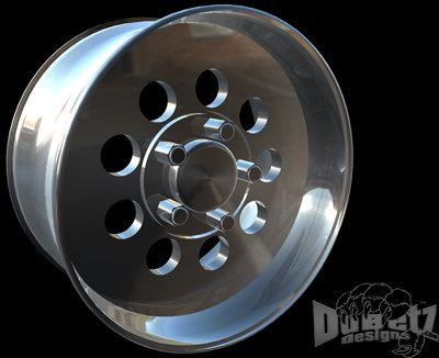 3d model wheels cragar street