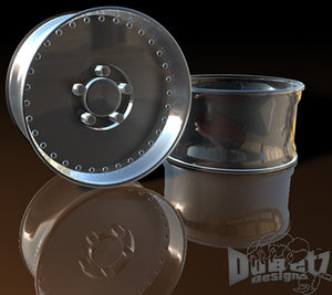 muscle car wheels centerline 3d c4d