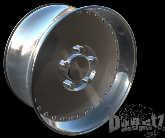 3ds Max Muscle Car Wheels Centerline