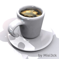 3ds coffee cup