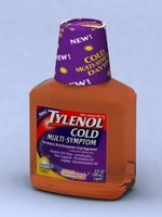 tylenol bottle medicine 3d max