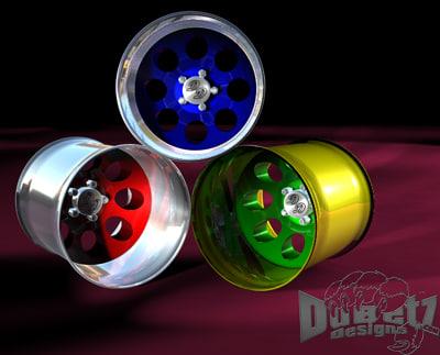 3d muscle car wheels cragar