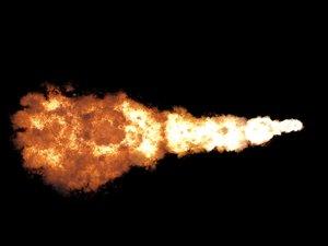 afterburn flamethrower 3d model