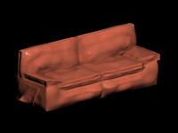 sofa leather modern 3d max