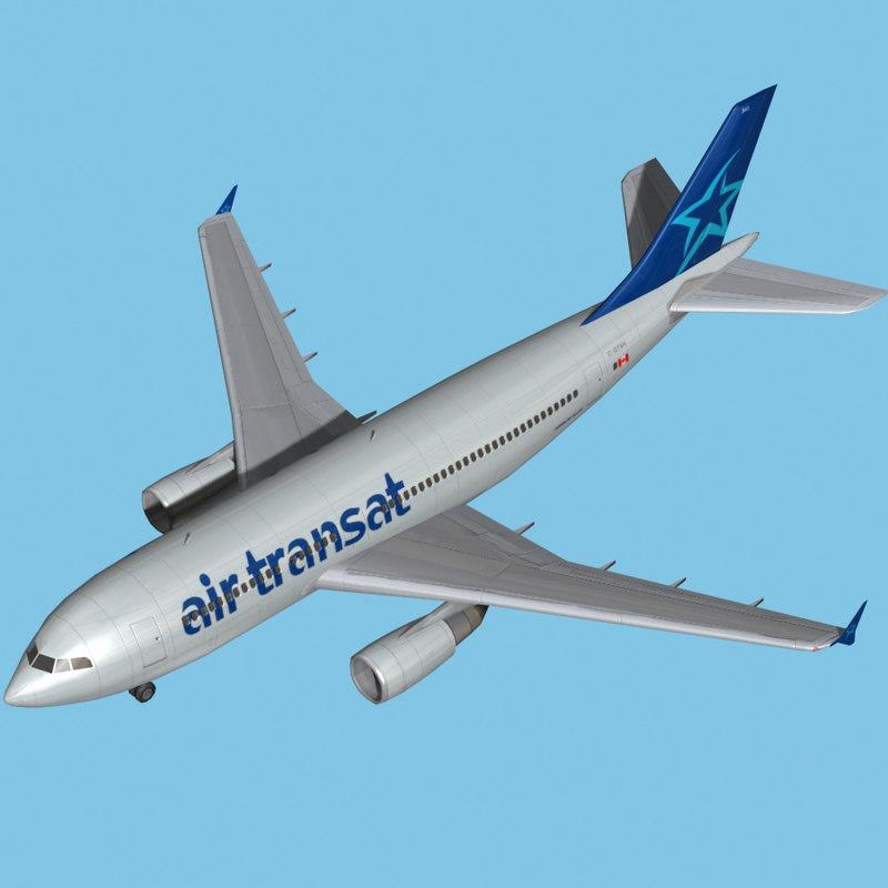 Airbus A310 Air Transat 3ds