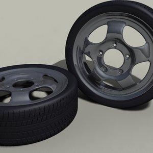 5 tyre 3d model