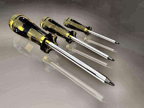 screwdrivers 3d max