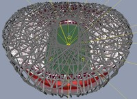 3ds max beijing olympic stadium