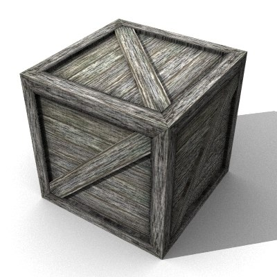 wood crate 3d 3ds