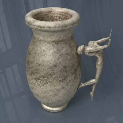 3ds max old vase antique