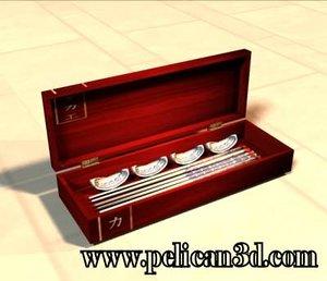 3d asian chopsticks