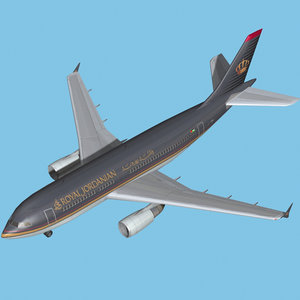 3d model airbus a310-royal jordanian