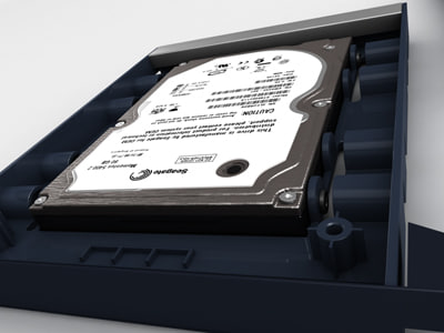 notebook harddrive 3d model