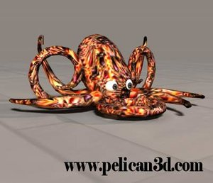 pelican octopus obj