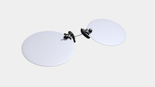 pince-nez eyeglasses 3d model