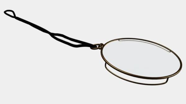 eyeglasses monocle 3d model
