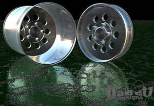 drag pack wheel cragar street 3d model