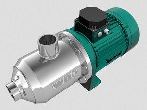 3d model wilo pump water economy