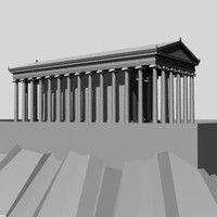 3d greek ionic temple model