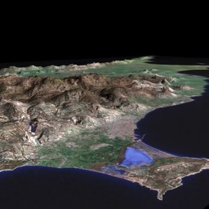 3dsmax cyprus landscape island