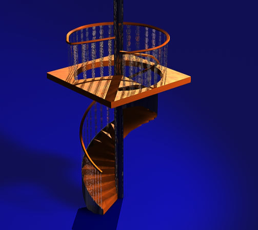 spiral staircase victorian c4d free